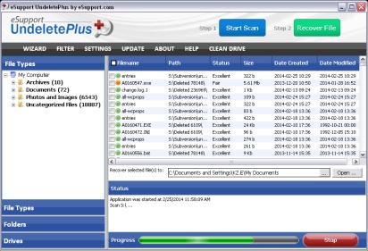 UndeletePlus Screenshot